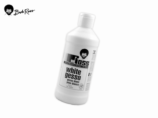 Bob Ross 打底劑-白色:White Gesso-473ml